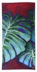 Split Leaf Philodendron Beach Towel