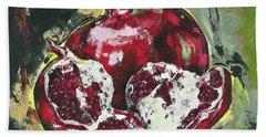 Split Pomegranate Beach Towel