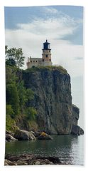 Split Rock Lightouse Beach Towel by Penny Meyers