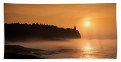 Split Rock's Morning Glow Beach Towel