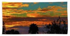 Split Sunset Beach Towel