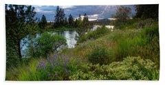 Spokane River Spring Beach Towel