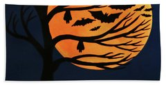 Spooky Bat Tree Beach Sheet