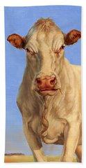 Spooky Cow Beach Towel