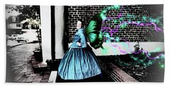 Spooky Historic Butterfly Dahlonega  Beach Towel