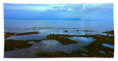 Spooky Morning Tide Receded From Beach Beach Sheet