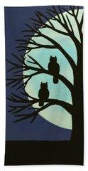 Spooky Owl Tree Beach Towel