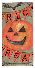 Spooky Pumpkin 1 Beach Towel