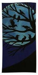 Spooky Raven Tree Beach Towel