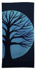 Spooky Tree Blue Beach Towel