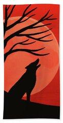 Spooky Wolf Tree Beach Towel