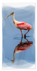 Spoonbill 3 Beach Towel