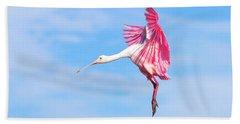 Spoonbill Ballet Beach Towel by Mark Andrew Thomas