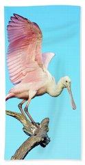 Spoonbill Flight Beach Towel