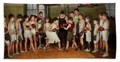Beach Towel featuring the photograph Sport - Boxing - Fists Of Fury 1924 by Mike Savad