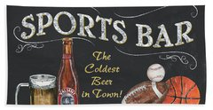 Sports Bar Beach Towel by Debbie DeWitt