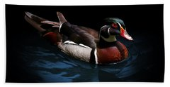 Spotlight On A Wood Duck Beach Towel