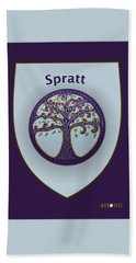 Spratt Family Crest Beach Towel