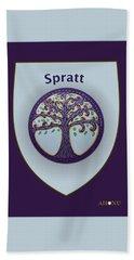 Spratt Family Crest Beach Sheet