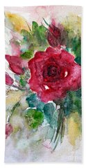 Beach Towel featuring the painting Spring For You by Jasna Dragun