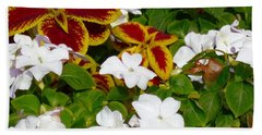 Spring Annuals Beach Towel