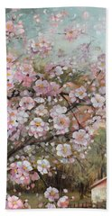 Spring At Country Side Beach Towel