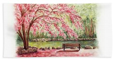 Spring At Lithia Park Beach Towel