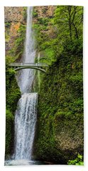 Spring At Multnomah Falls Beach Towel