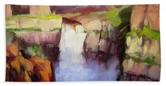 Spring At Palouse Falls Beach Towel