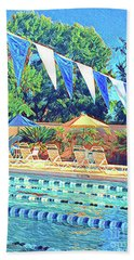Spring At The Pool Beach Towel