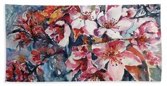 Beach Towel featuring the painting Spring Beauty by Kovacs Anna Brigitta