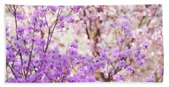 Beach Towel featuring the photograph Spring Bloom Of Rhododendron  by Jenny Rainbow