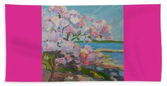 Spring Blooms By Sea Beach Towel
