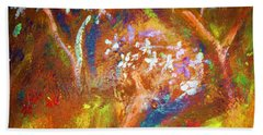 Beach Towel featuring the painting Spring Blossom by Winsome Gunning