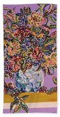 Spring Bouquet  Beach Towel by Erika Pochybova