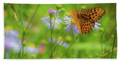 Spring Butterfly Beach Towel