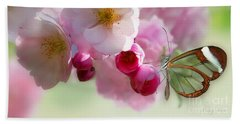 Spring Cherry Blossom Beach Towel