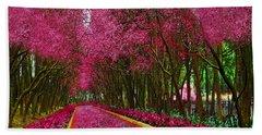 Spring Cherry Blossoms Beach Sheet