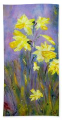 Spring Daffodils Beach Sheet