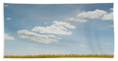 Spring Day Clouds Beach Towel