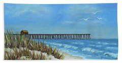 Spring Day On The Beach Beach Sheet by Val Miller