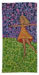 Beach Towel featuring the painting Spring by Donna Howard