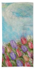 Spring Emerging Beach Towel by Lyric Lucas