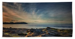Spring Evening At Madrona Beach Sheet by Randy Hall