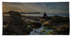 Spring Evening Beach Towel by Randy Hall