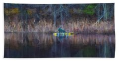 Spring Fishing Beach Towel by Tricia Marchlik