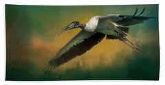 Beach Towel featuring the photograph Spring Flight by Marvin Spates