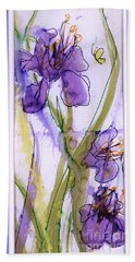 Beach Towel featuring the painting Spring Fling by P J Lewis