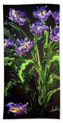Spring Floral Beach Sheet by Alan Lakin