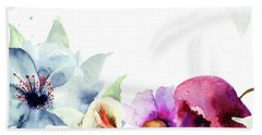 Spring Floral Background Beach Towel